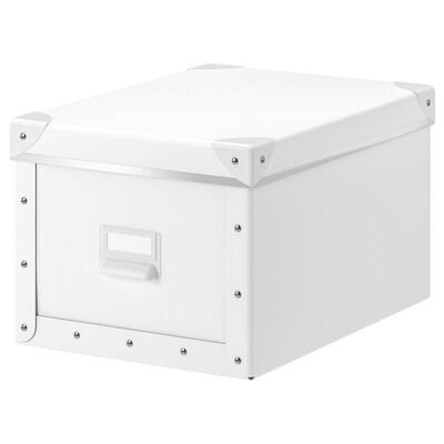 FJÄLLA Kasten mit Deckel, weiß, 25x36x20 cm