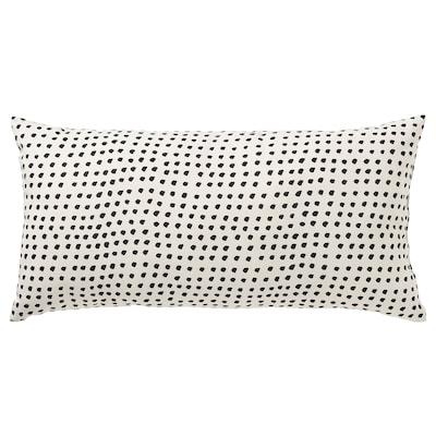 FJÄLLTIMOTEJ Kissen, weiß/schwarz, 30x58 cm