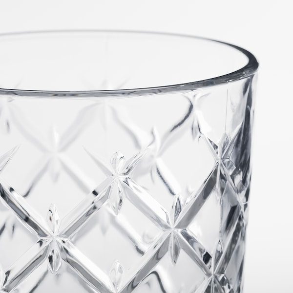 FLIMRA Glas, Klarglas/gemustert, 42 cl