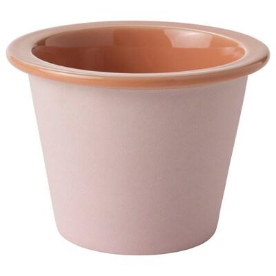 FNITTRIG Übertopf, drinnen/draußen rosa, 9 cm