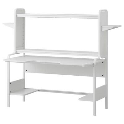 FREDDE Gamingschreibtisch, weiß, 185x74x146 cm