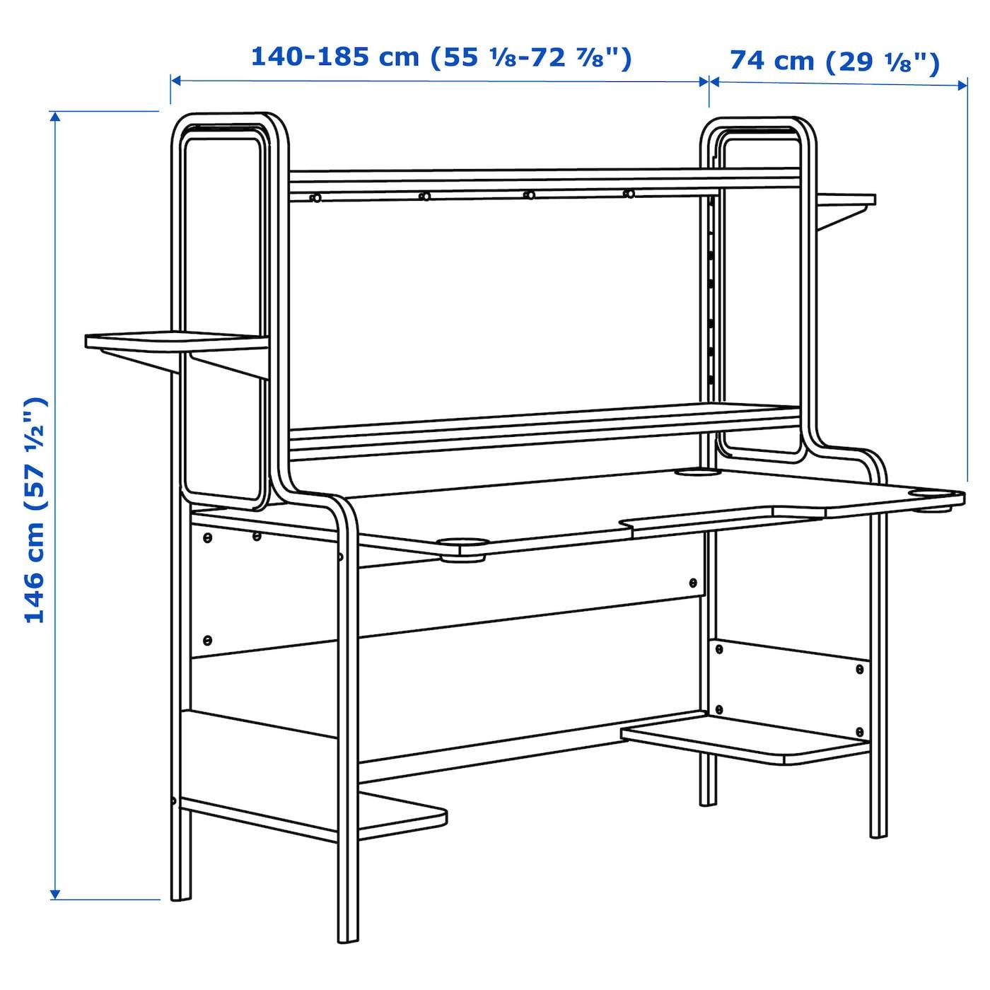 FREDDE Schreibtisch schwarz IKEA Österreich