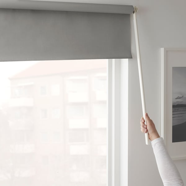 FRIDANS Verdunklungsrollo, grau, 120x195 cm