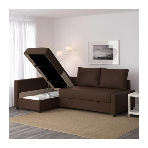Eckbettsofa leder  FRIHETEN Eckbettsofa mit Bettkasten - Bomstad schwarz - IKEA