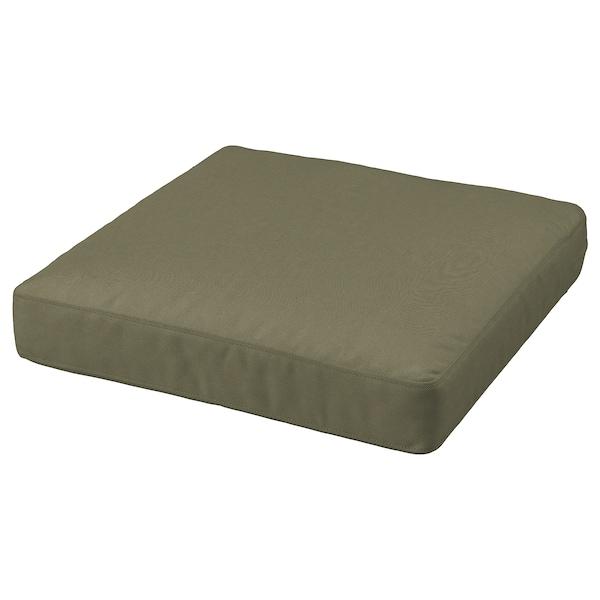 FRÖSÖN Sitzkissenbezug, für draußen/dunkles Beigegrün, 62x62 cm
