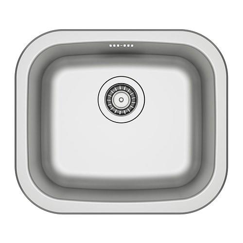 Ikea Faktum Väggskåp Montering ~ FYNDIG Einbauspüle 1 Becken > Spüle aus Edelstahl, einem