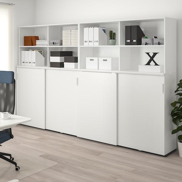 GALANT Aufbewahrung mit Schiebetüren, weiß, 320x200 cm