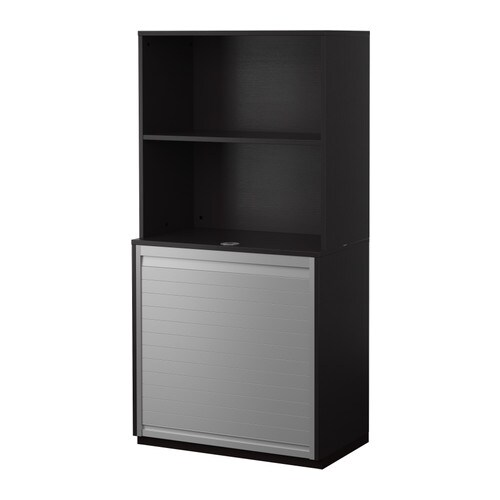 galant aufbewahrungskomb mit jalousie schwarzbraun ikea. Black Bedroom Furniture Sets. Home Design Ideas
