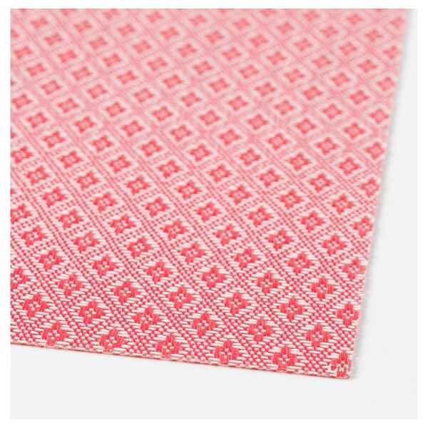 GALLRA Tischset, rot/gemustert, 45x33 cm