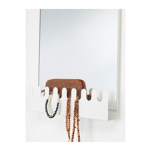garnes t rspiegel mit haken und ablage ikea. Black Bedroom Furniture Sets. Home Design Ideas