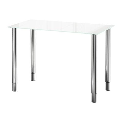 GLASHOLM  GERTON Tisch  Glas weißverchromt  IKEA