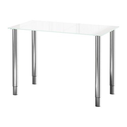 glasholm gerton tisch glas wei verchromt ikea. Black Bedroom Furniture Sets. Home Design Ideas