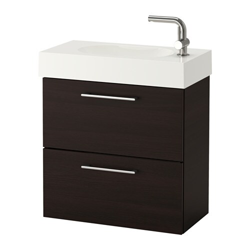 godmorgon br viken waschbeckenschrank 2 schubl schwarzbraun ikea. Black Bedroom Furniture Sets. Home Design Ideas