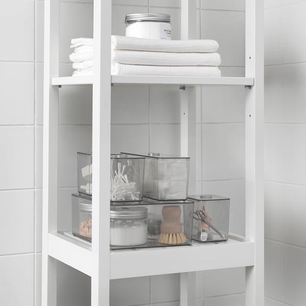 GODMORGON Kasten mit Deckel 5er-Set, rauchfarben, 24x20x10 cm