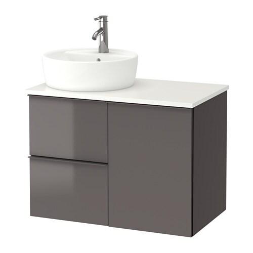 godmorgon tolken t rnviken waschbschr waschb 45 wei hochglanz grau ikea. Black Bedroom Furniture Sets. Home Design Ideas