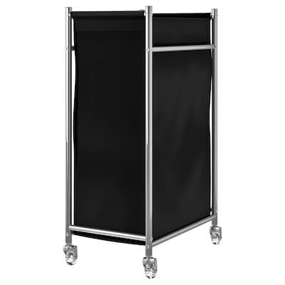 GRUNDTAL Wäschewagen, Edelstahl/schwarz, 70 l