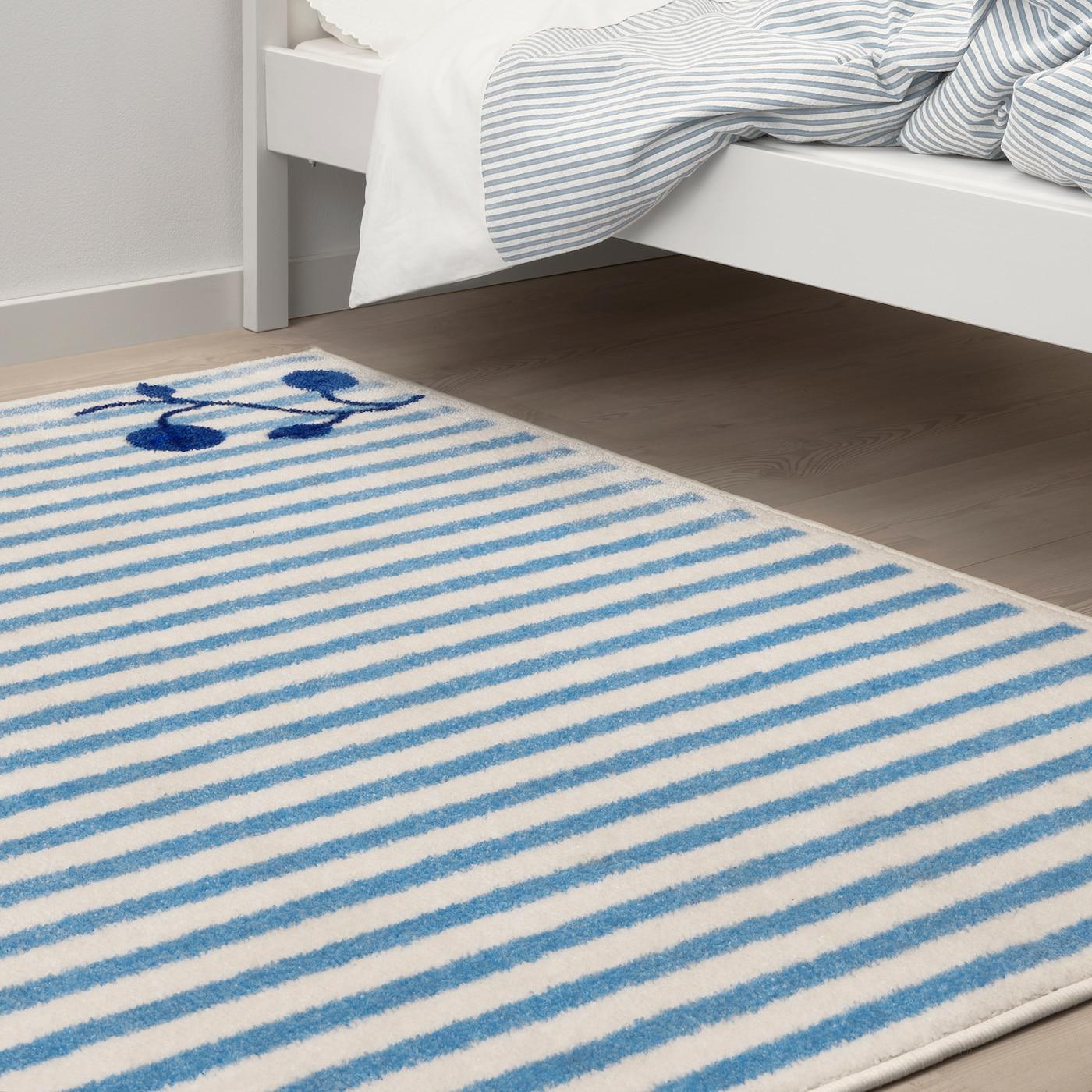 Gulsparv Teppich Gestreift Blau Weiss Ikea Osterreich