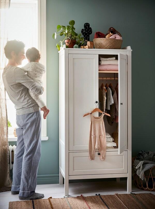 HÄNGA Kinderkleiderbügel, naturfarben