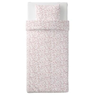 HÄSSLEKLOCKA Bettwäscheset, 2-teilig weiß/rosa 200 cm 140 cm 70 cm 90 cm