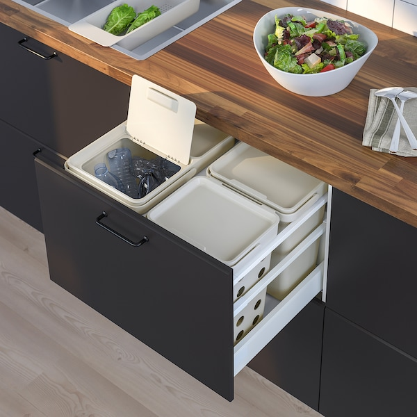 HÅLLBAR Abfalltrennungslösung, für METOD Schublade belüftet/hellgrau, 42 l