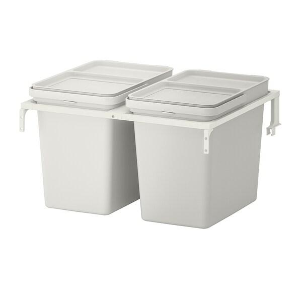 HÅLLBAR Abfalltrennungslösung, für METOD Schublade/hellgrau, 44 l