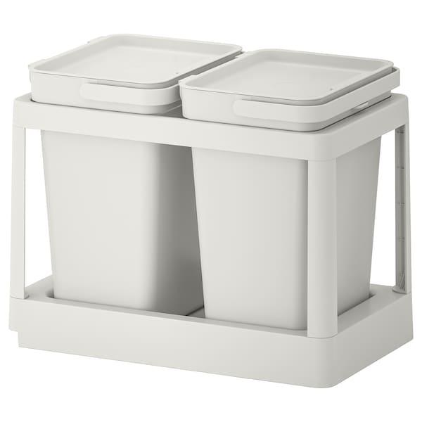 HÅLLBAR Abfalltrennungslösung, mit Auszug/hellgrau, 20 l