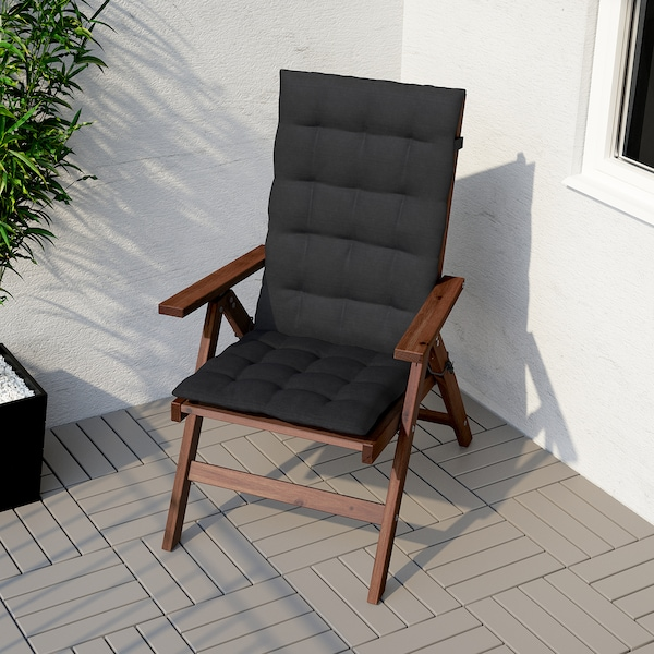 HÅLLÖ Sitz-/Rückenpolster/außen, schwarz, 116x47 cm