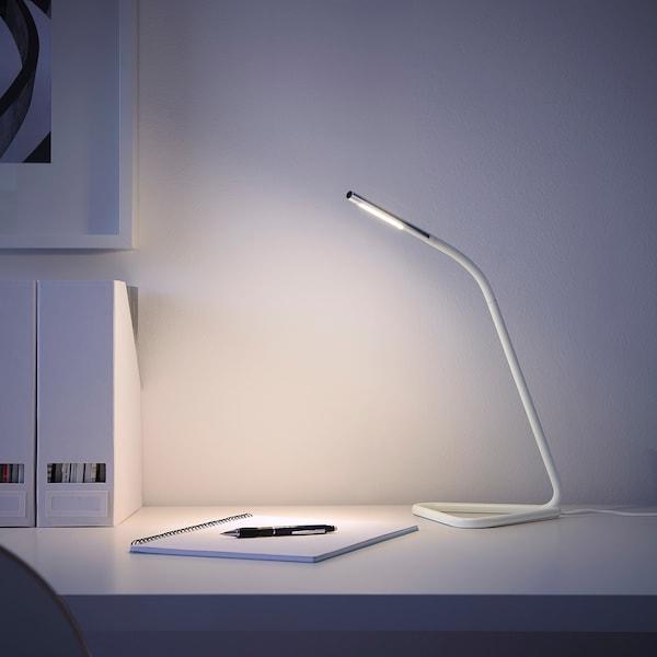 HÅRTE Arbeitsleuchte, LED, weiß/silberfarben