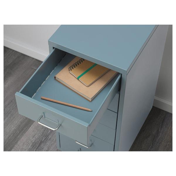 HELMER Schubladenelement auf Rollen, blau, 28x69 cm