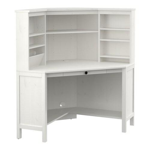 hemnes eckarbeitsplatz wei gebeizt ikea. Black Bedroom Furniture Sets. Home Design Ideas