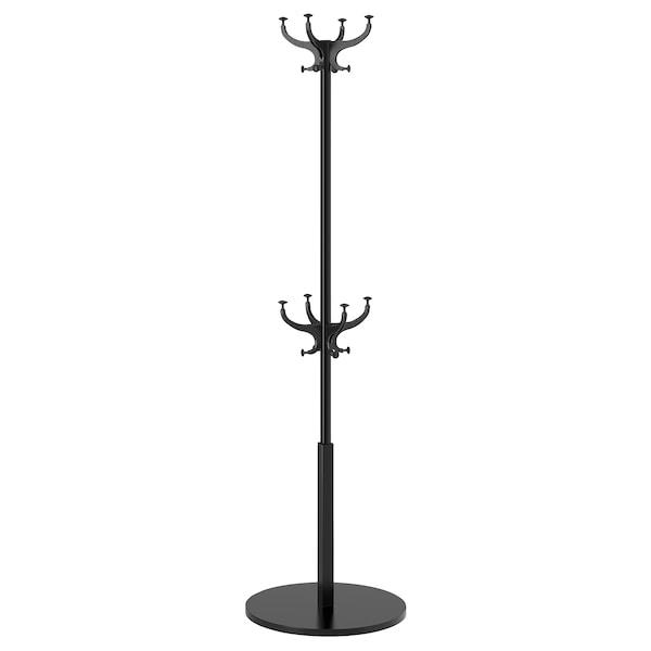 HEMNES Garderobenständer, schwarz, 185 cm