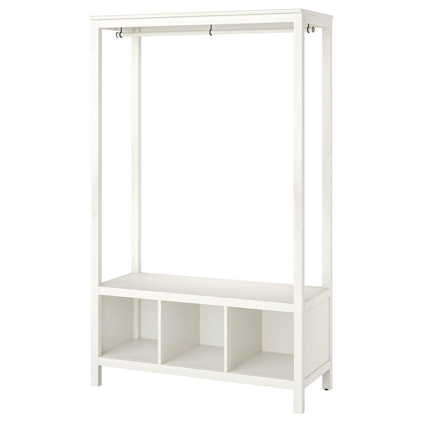 HEMNES Kleiderschrank, offen weiß las. IKEA Österreich