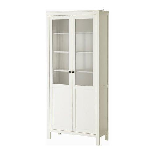 Schrank ikea hemnes  HEMNES Schrank mit Paneel-/Vitrinentür - weiß gebeizt - IKEA