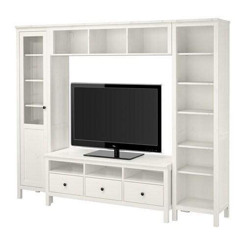 hemnes tv m bel kombination wei gebeizt 246x197 cm ikea. Black Bedroom Furniture Sets. Home Design Ideas
