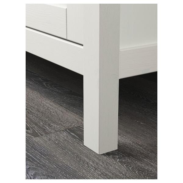 HEMNES Kleiderschrank mit 2 Schiebetüren weiß gebeizt 120 cm 59 cm 197 cm
