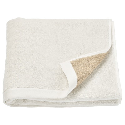 HIMLEÅN Badetuch, beige/meliert, 70x140 cm