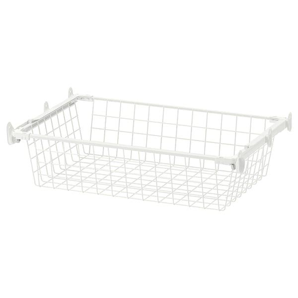 HJÄLPA Drahtkorb mit Auszugschiene, weiß, 60x40 cm