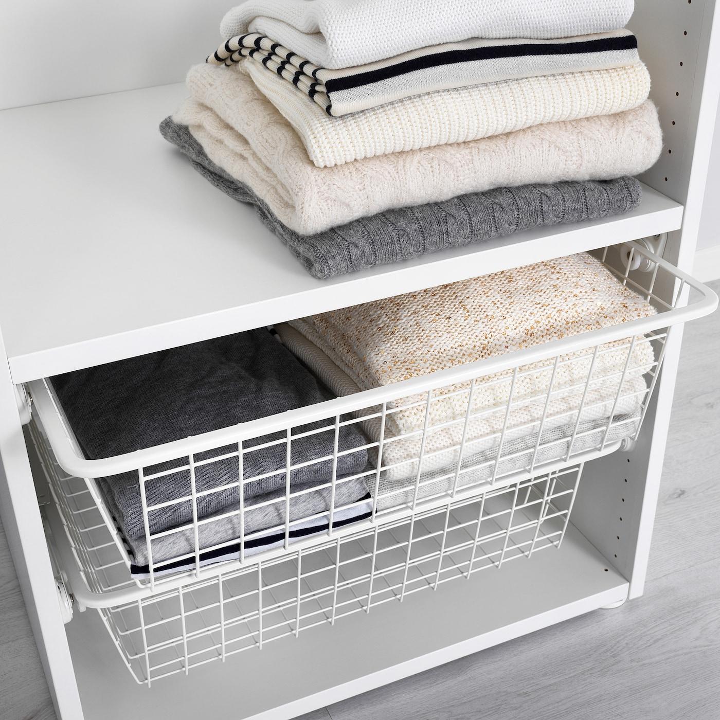 HJÄLPA Drahtkorb mit Auszugschiene weiß IKEA Österreich