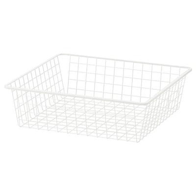 HJÄLPA Drahtkorb, weiß, 60x55 cm