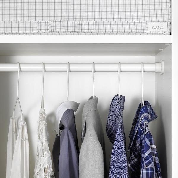 HJÄLPA Kleiderstange, weiß, 60x55 cm