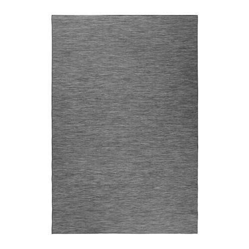 hodde teppich flach gewebt drinnen drau grau schwarz 200x300 cm ikea. Black Bedroom Furniture Sets. Home Design Ideas