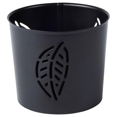 HÖSTPROMENAD Teelichthalter, schwarz, 7 cm