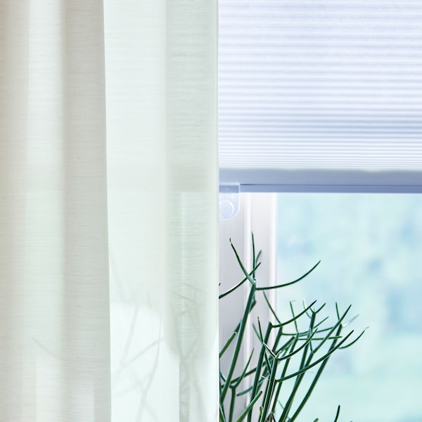 HOPPVALS Wabenjalousie weiß 155 cm 120 cm 1.86 m²