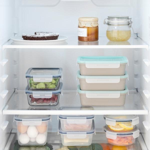 IKEA 365+ Lunchbox mit Einsätzen, rechteckig/beige, 1.0 l