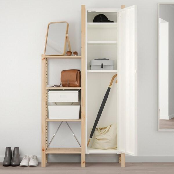 IVAR Schrank mit Tür weiß 40 cm 30 cm 160 cm 12 kg
