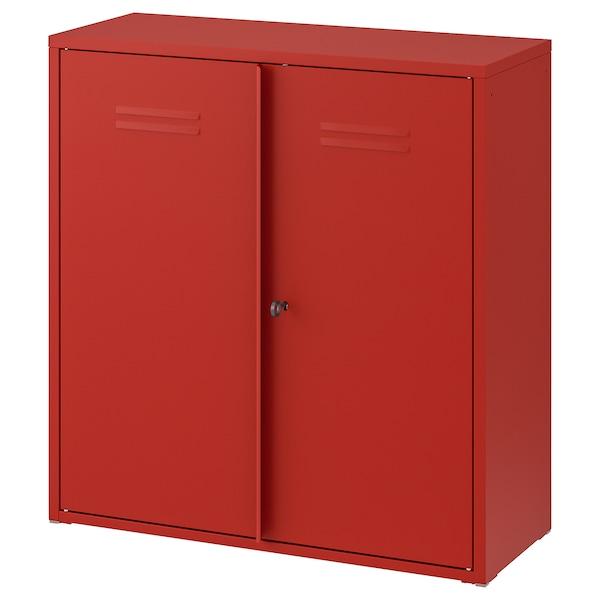 IVAR Schrank mit Türen rot 80 cm 30 cm 83 cm 25 kg
