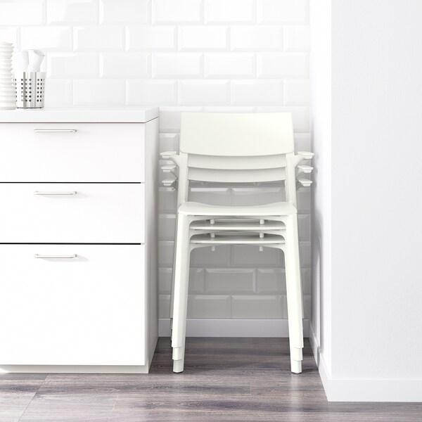 JANINGE Armlehnstuhl, weiß