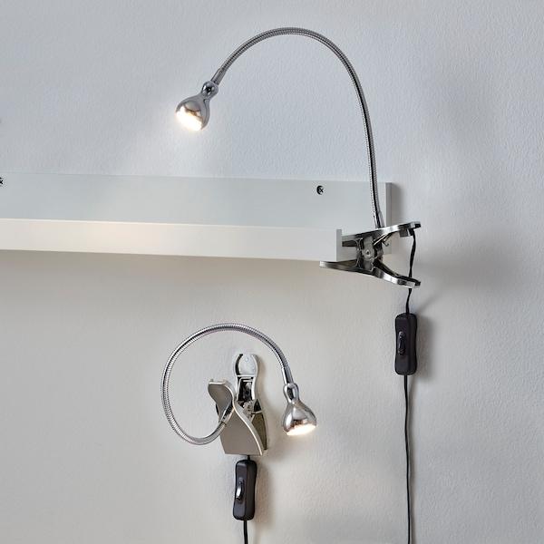 JANSJÖ Wand-/Klemmspot, LED, silberfarben