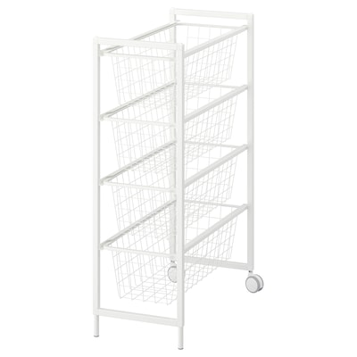 JONAXEL Aufbewahrungskombi, weiß, 25x51x73 cm