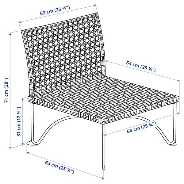 JUTHOLMEN Sitzelement 1/außen, dunkel graubraun
